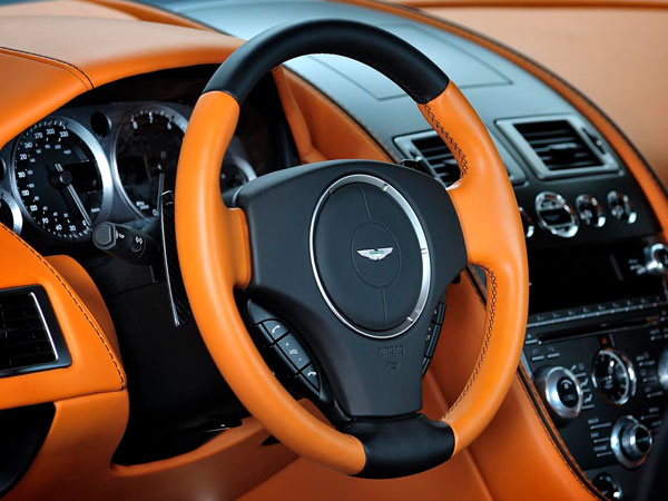 DB9 orange leather interior