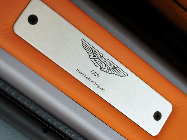 Aston Martin sill plaque