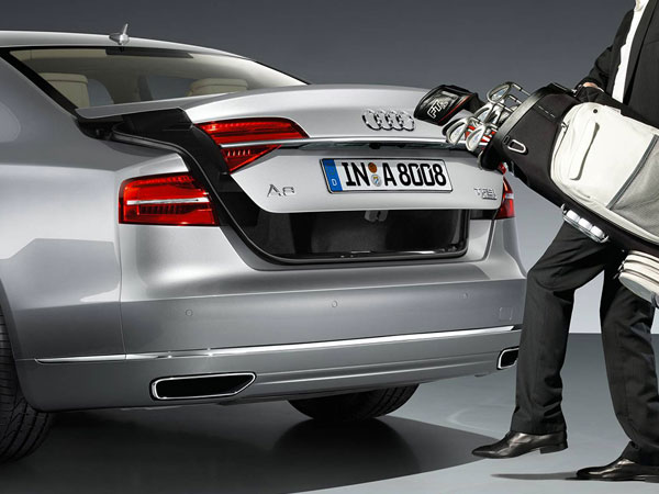 Audi A8's large boot space