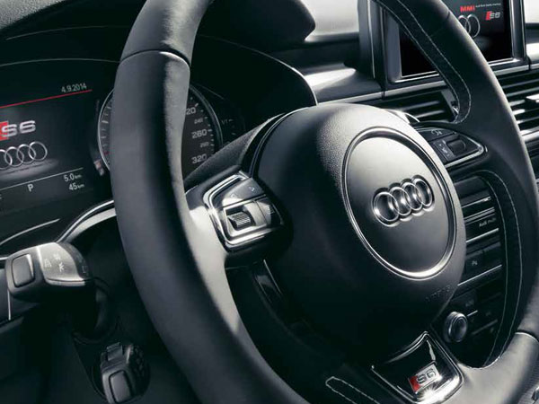 Audi's leather steering wheel
