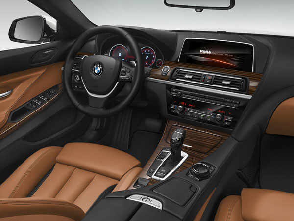 BMW Cabriolet's leather interior