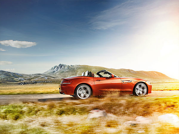 Red BMW Z4 Convertible is a sporty exotic car