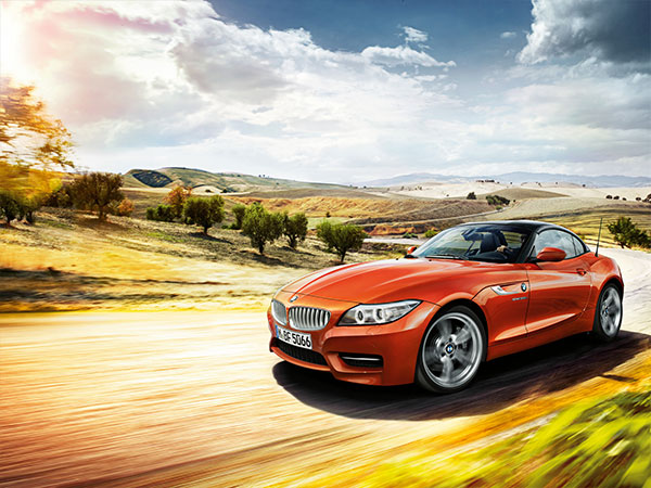 BMW Z4 Roadster with the top closed