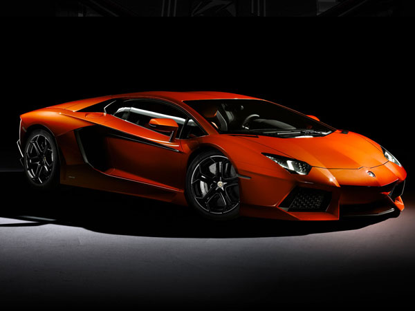 Orange Lamborghini Aventador LP-700-4