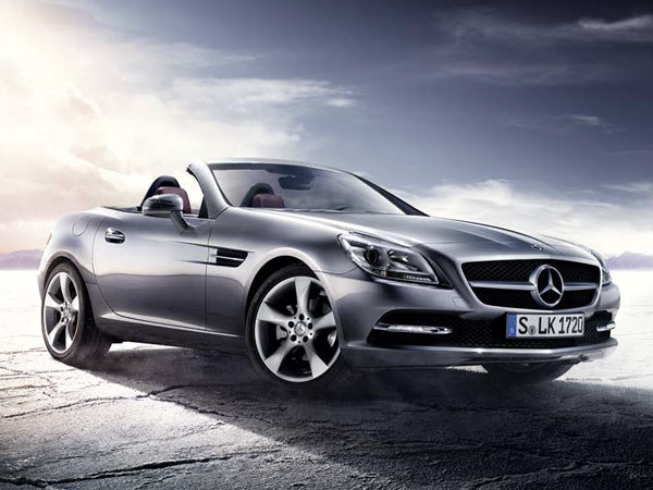 Mercedes SLK 55 AMG Roadster, a luxury sports car